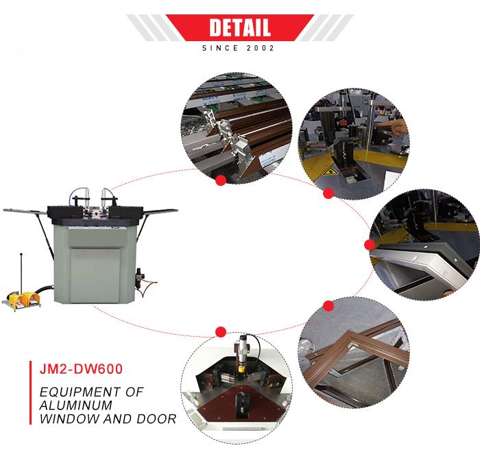 Hoek krimpen aluminium window deur fabricage machine
