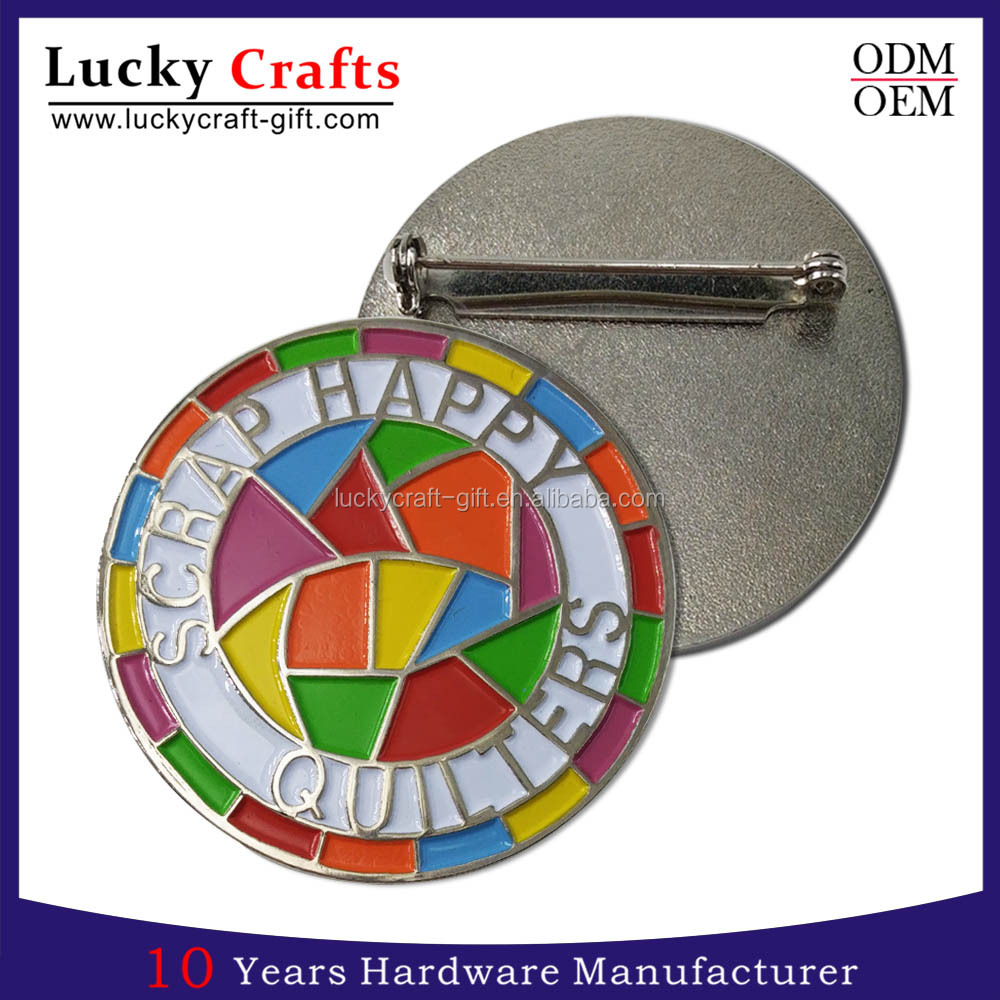 OEM/ODM custom made metal logo security badge with high quality