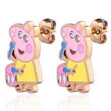Fashion earrings cartoon piggy stud funny earrings