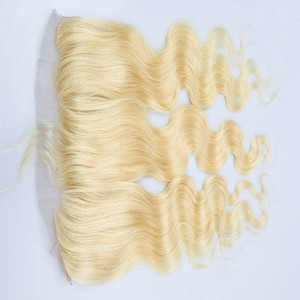 Blonde Body Wave Cambodian Hair Raw Unprocessed Virgin Hair Lace Frontal Natural Human Hair Ear to Ear Frontals 613