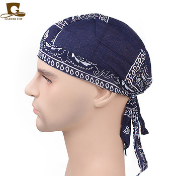 Unisex Cotton Skull Caps Paisley Bandanna Biker Cycling Hat Durag Do Rag