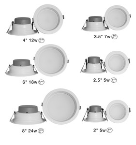 "Recessed down lighting 2"" 2.5"" 3.5"" 4"" 6"" 8"" CE ROSH GS Flicker free"