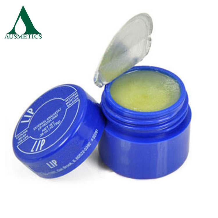 Hot selling promotional products lip care cream organic round mint organic lip balm