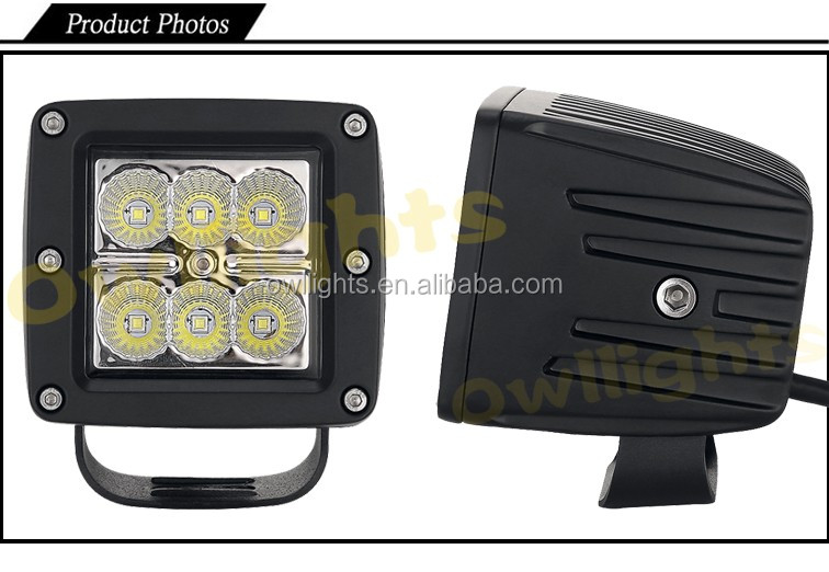 Truck auto parts square 18w led driving light led car lighting 3 truck auto parts square 18w led driving light led car lighting 3 inch extra lights for aloadofball Image collections