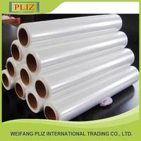 plastic wrap pvc cling film for food grade, cling film jumbo roll