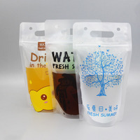 High quality disposable plastic transparent custom juice milk liquids packaging pouches bags for drinking