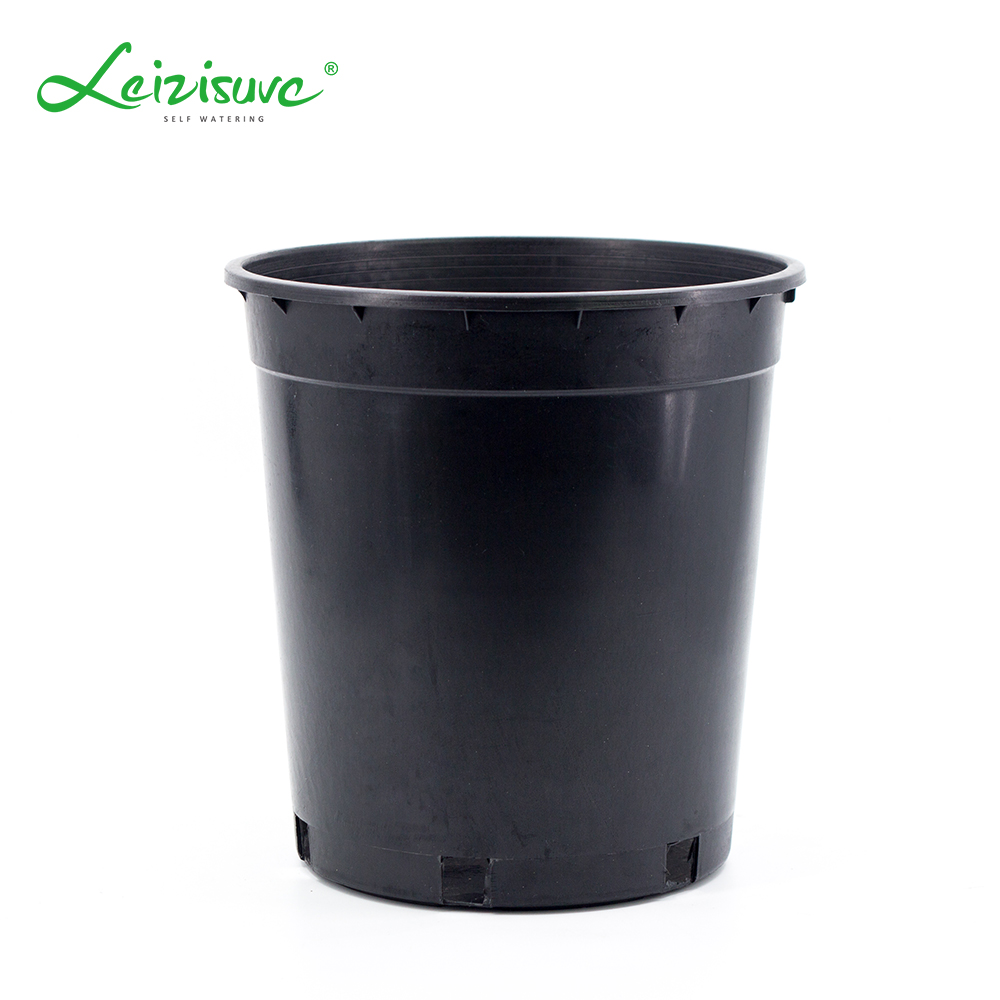 Leizisure Whole Black Plastic Greenhouse 2 3 4 5 7 10 15 Gallon Nursery Flower Pots Bulk Planter Liners For