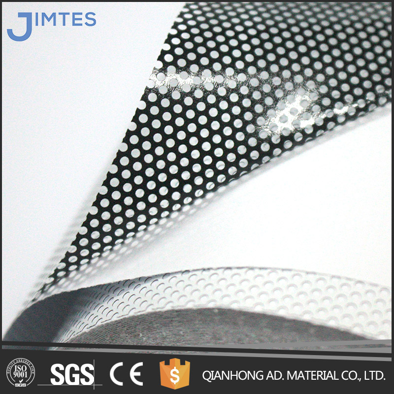 Two Way Vision Perforated Window Film/PVC Self Adhesive Vinyl Film/Car Sticker