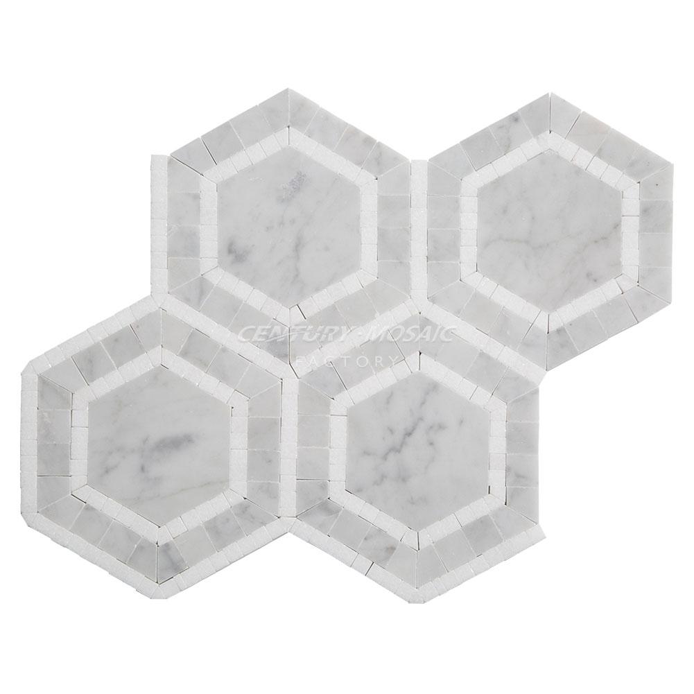 Salle De Bain Marbre De Carrare carrare blanc thassos marbre mosaïque carrelage de salle de bain - buy  carrelage en mosaïque hexagonale,mosaïque en marbre,carrelage en mosaïque