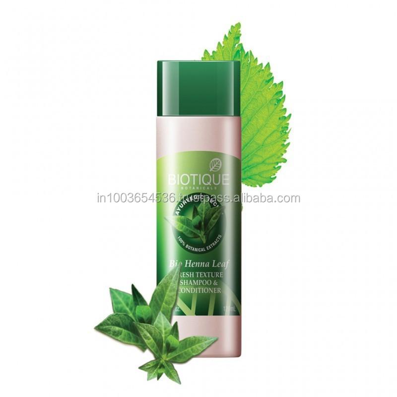 Biotique - Bio-henna Leaf Fresh Texture Shampoo & Conditioner ...