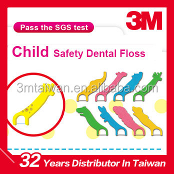3M Passing test high quality ultra smooth whitening child safety dental floss Picks
