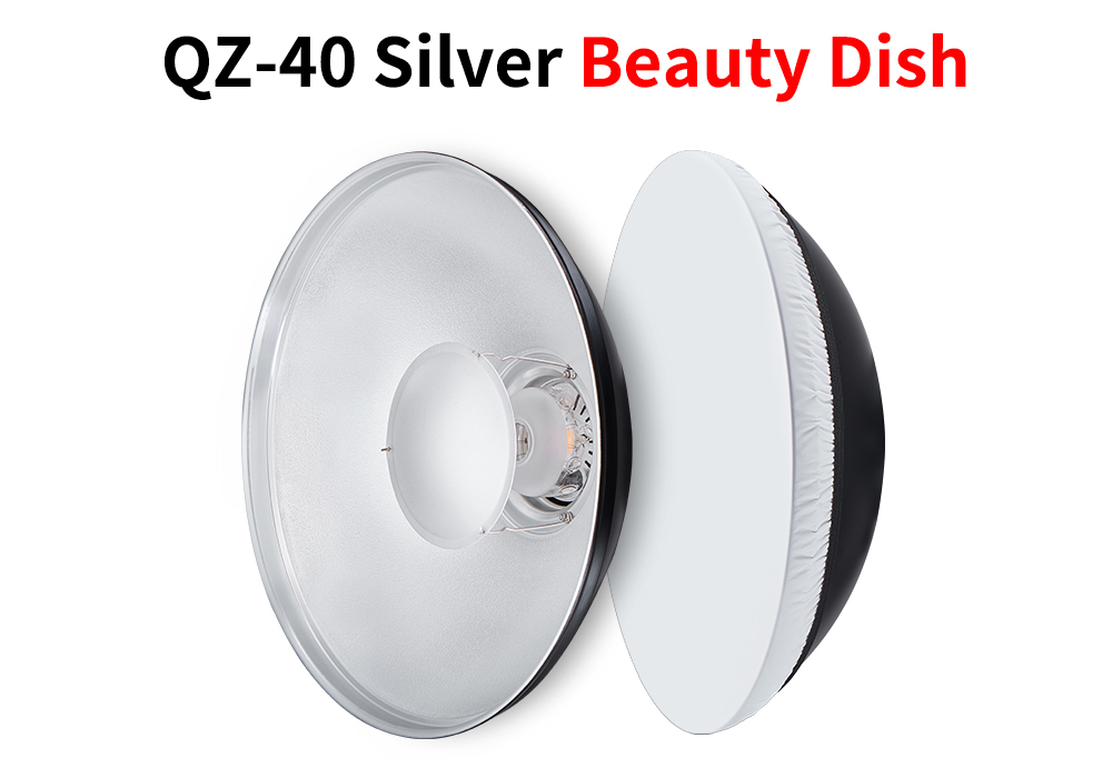 JINBEI Photographic Diameter 40cm Beauty Dish Reflector with Honey Comb Bowens Mount Studio Strobe Reflector for Portrait Photo