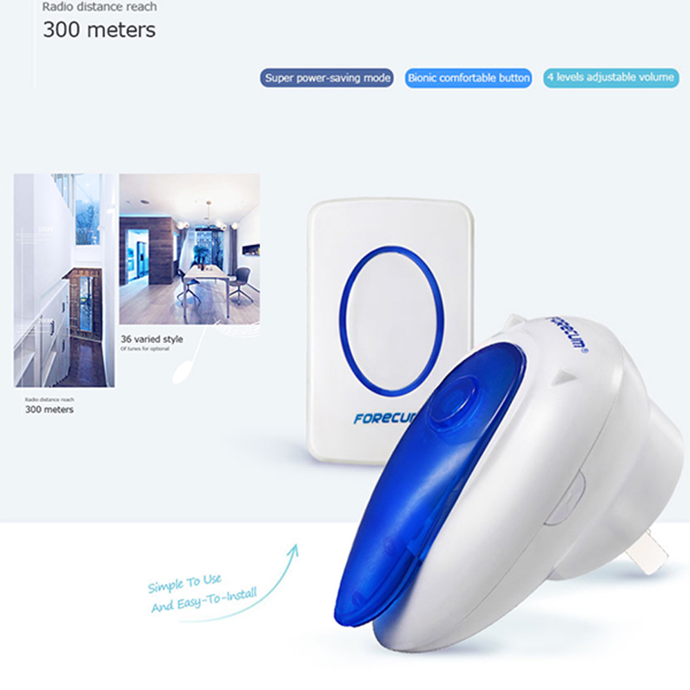 Portable Mini 36 Songs Musical Music Sound Voice Wireless Chime Door hanging Room Gate Bell Door bell