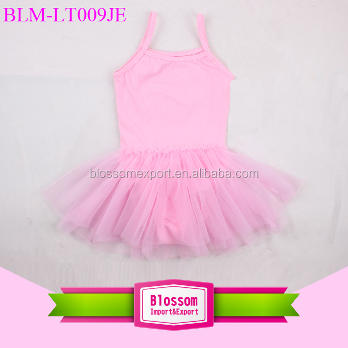 Wholesale boutique baby girl ballet leotard camisole with chiffon skirt dance training suit tutu leotard