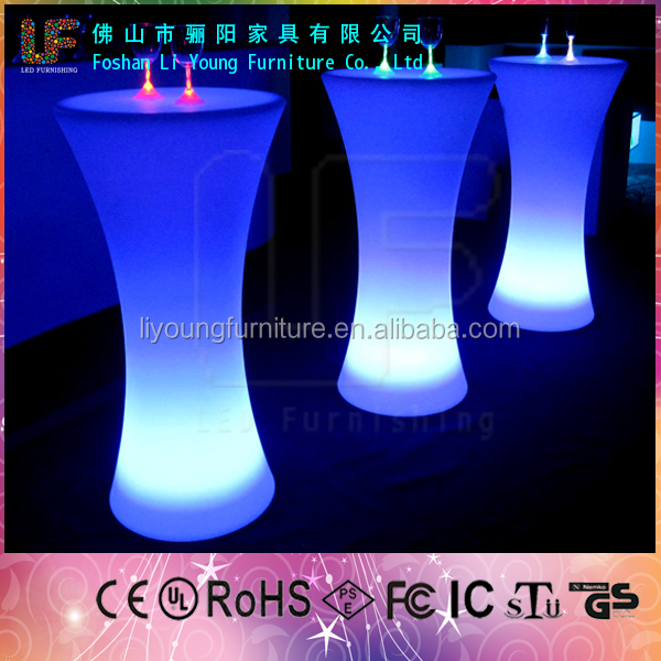 Alibaba Hot Sale Color Remote Control Wholesale High Tables outdoor led modern bar counter LGL-5656