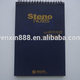 customized high quality top bound sprial quicknote steno note