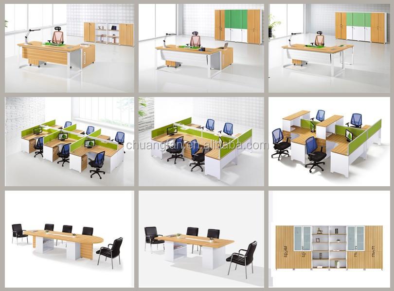 Cf Office Furniture 4 Seater Staff Work Desk Modern Office Desk ...