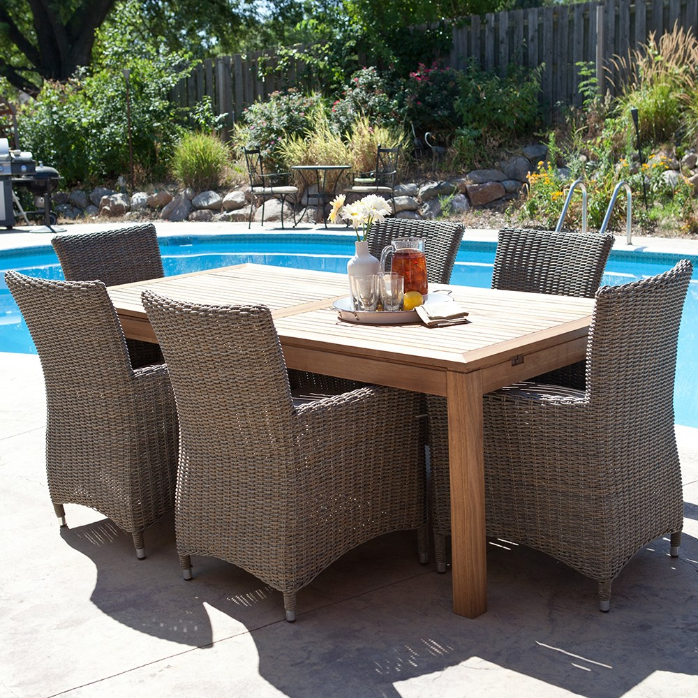 Eddins Teak Dining Outdoor Furniture