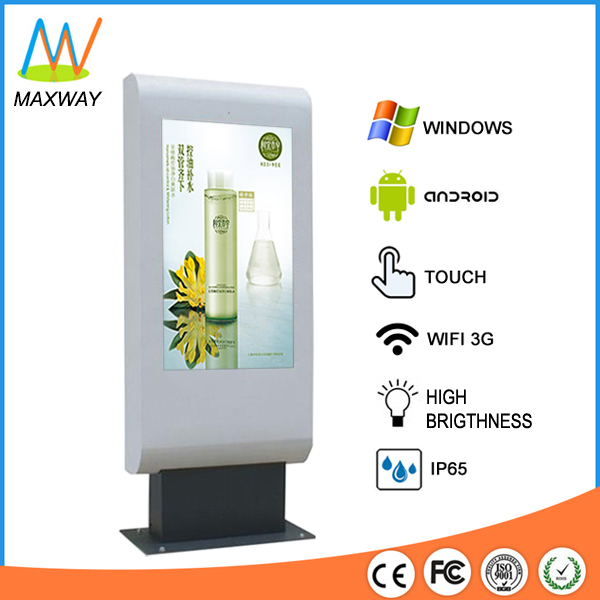 Floor Stand Digital Signage Poster High Brightness 2000 Nit Lcd Tv Outdoor 46 Inch