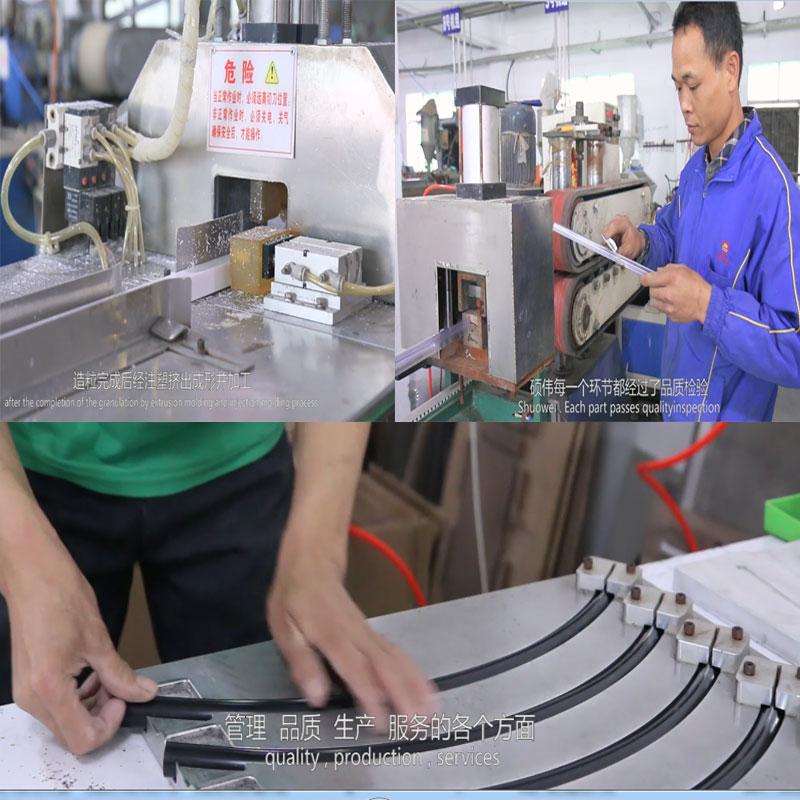 Nieuwe duurzaam PVC geëxtrudeerd plastic profielen voor bouw