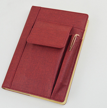 office meeting notebook mobile phone pocket multi function notebook