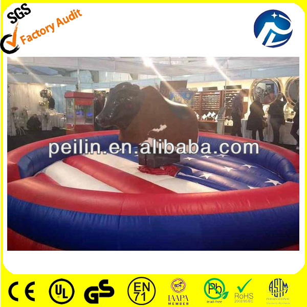 american flag color inflatable gladiator duel