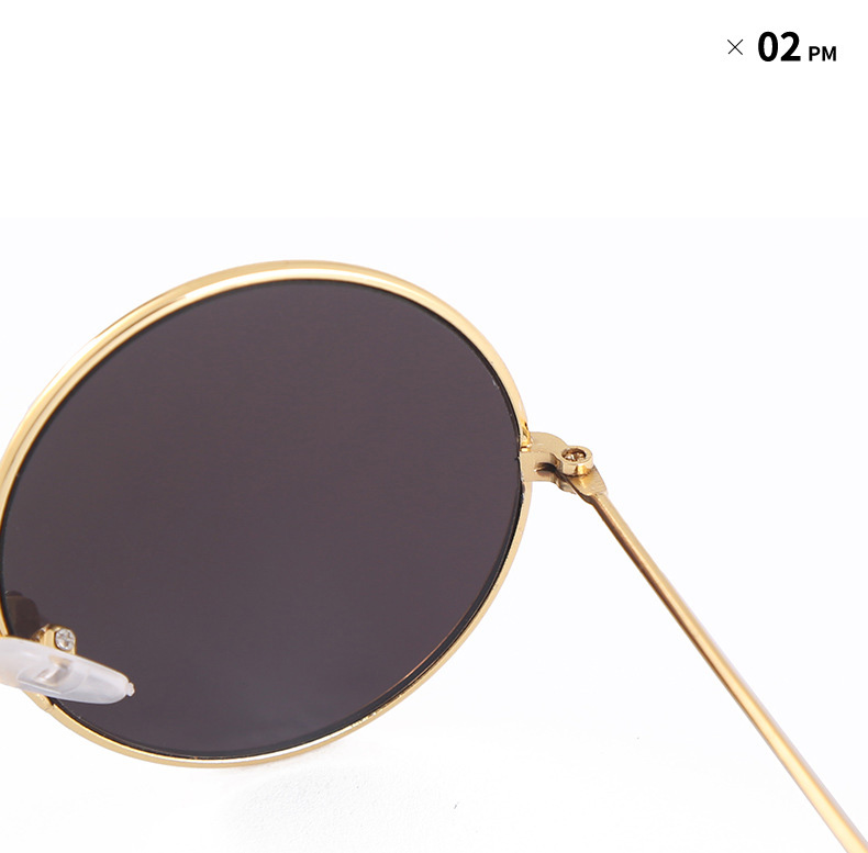 Caoshi Lovely Gifts New Trendy 2019 Kids Metal Sunglasses Cute Round Frame Sunglasses UV400 Protected Sunglasses Kids
