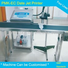 Plastic and glass bottle date and time jet printer