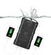 Outdoor Rugged Portable Flash Charging 10000mAh IP68 Water/Dirt/Shock Proof Power Bank With Double 3.0 USB for iPhone Samsung