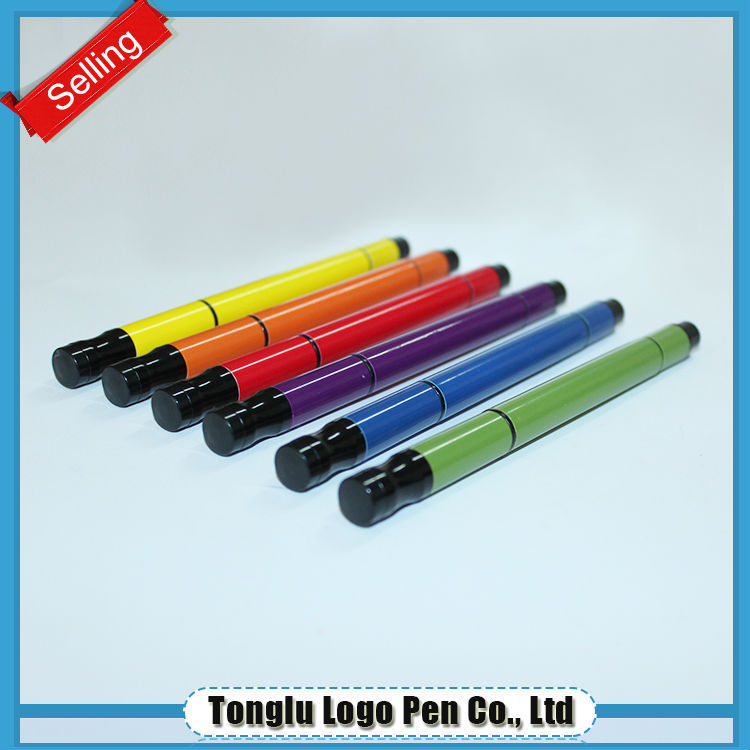 2015Eco-friendly reclaimed material 5 color ball pen with highlighter
