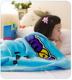 100% polyester baby cheap printing korean fleece throw swaddle blanket