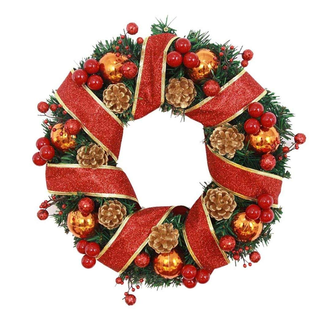 get quotations garland christmas decor inkach merry christmas wreath ornament hanging door wall garlands xmas decorations - Hanging Garland Christmas Decorations
