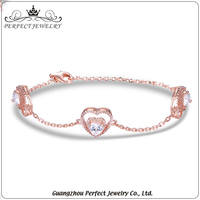 Factory price wholesale 925 sterling silver charming micro pave AAA zircon new models bracelets