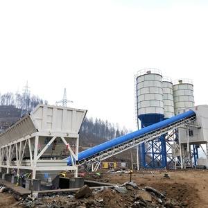 High quality space saving concrete mixing plant 200ton steel structure construction cement silo