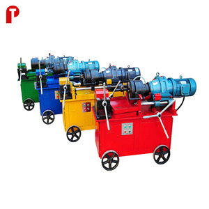 Portable electric building machinery steel cold processing rebar thread rolling machine