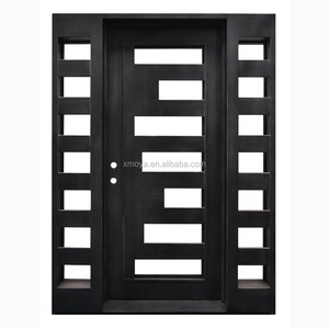 Interior Steel Front Sliding Iron Wrought Main Doors Designs Double Door