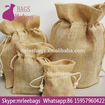 Custom Drawstring Jute Craft Bags With Custom Printing Buy Jute