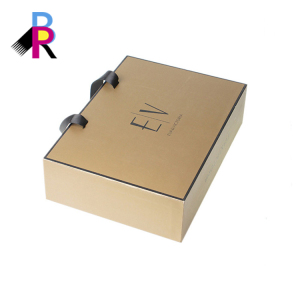 Glossy lamination wedding dress packing boxes with ribbon