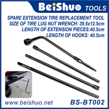 Premium Spare Tire Tool kit Replacement Kit With Bag,Lug Wrench Extension Steel Kit Set for Jack