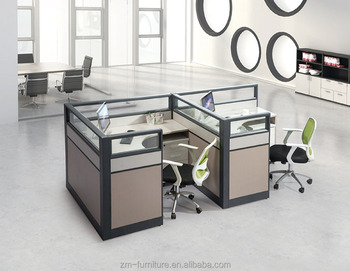 High Class Office Desk Partition Glass Partitions