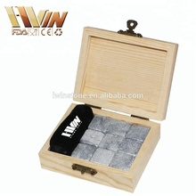 Whiskey Stones Gift Set of 9 in Engraved Wooden Box A Perfect Gift for Men