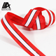 wholesale red polyester printed satin ribbon with customized logo