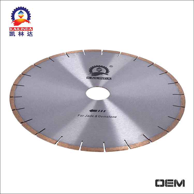 High speed electroplated 16 inch diamond saw blade for agate cutting