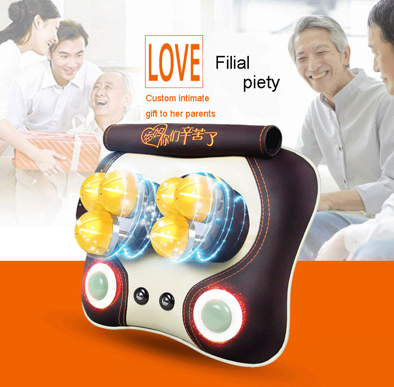 Rolling Kneading Massager with neck&waist&abdominal&leg for car or home Massage pillow