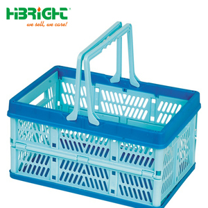 Fruit vegetable storage crate plastic folding basket