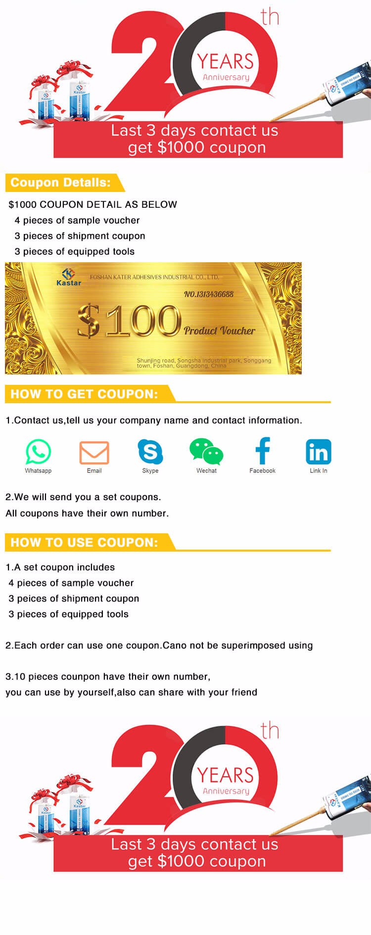 Contact us get $1000 coupon