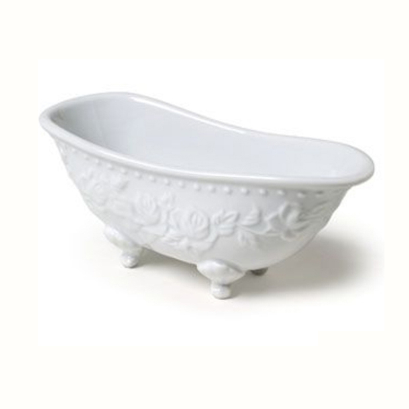 Embossed Ceramic Mini Bathtub Soap Dish - Buy Soap Dish,Bathtub Soap ...