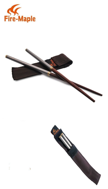 Titanium Chopsticks Strong Lightweight Chopsticks Premium Reusable Style Chopsticks Round End Set Ultraligh Outdoor Camping Chopsticks With Storage Bag Fire Maple FMT-T17
