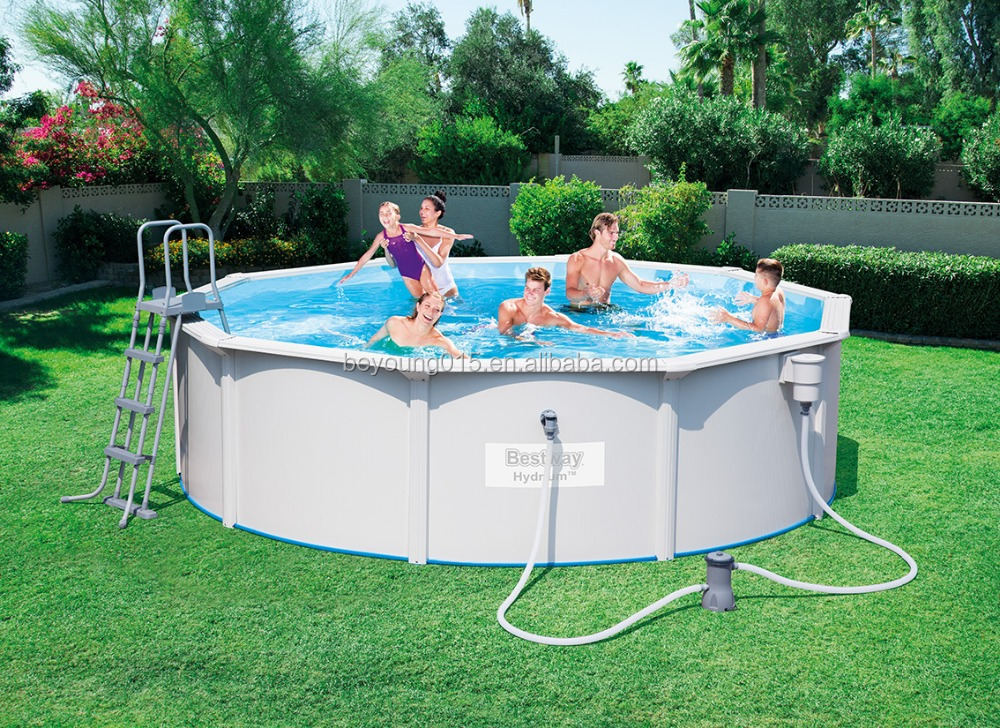 10ft Hydrium Oval Shape Steel Wall Pool Set Swimming Manufacturers China View 10 Ft Bestway Product Details From