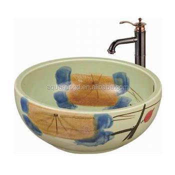 Runde Farbige Badezimmer-waschbecken Aus Keramik - Buy Bad  Waschbecken,Keramik Waschbecken,Runde Farbige Waschbecken Product on  Alibaba.com
